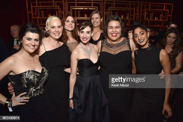 Rebekka Johnson Kimmy Gatewood Kate Nash Alison Brie Marianna Palka Britney Young and Sunita Mani attend the Netflix Golden Globes after party at...