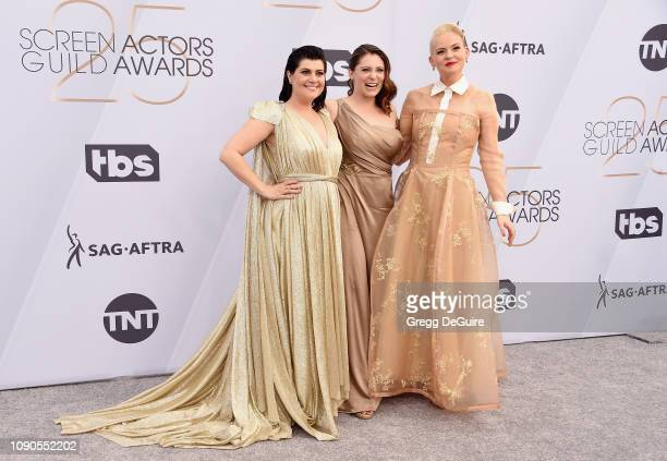 R Rebekka Johnson Rachel Bloom and Kimmy Gatewood attend the 25th Annual Screen ActorsGuild Awards at The Shrine Auditorium on January 27 2019 in...