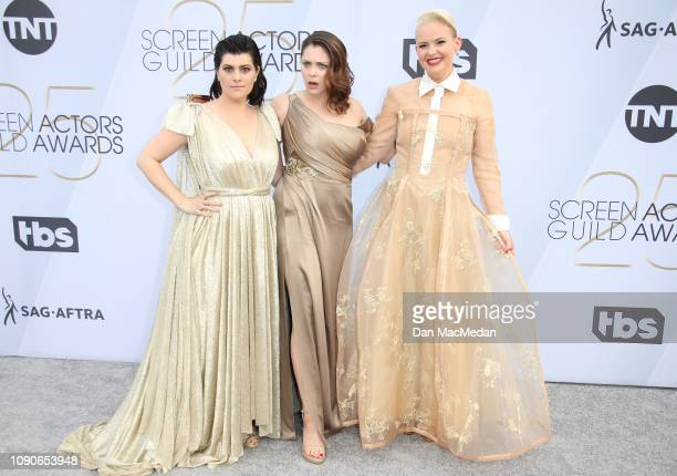 Rebekka Johnson Rachel Bloom and Kimmy Gatewood attend the 25th Annual Screen Actors Guild Awards at The Shrine Auditorium on January 27 2019 in Los...