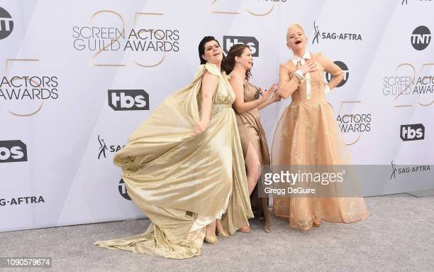 R Rebekka Johnson Rachel Bloom and Kimmy Gatewood attends the 25th Annual Screen ActorsGuild Awards at The Shrine Auditorium on January 27 2019 in...