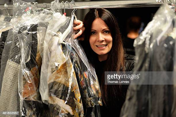 Rebekka Ruetz is seen backstage ahead of the Rebekka Ruetz show during the MercedesBenz Fashion Week Berlin Autumn/Winter 2015/16 at Brandenburg Gate...