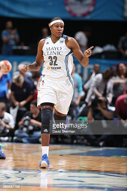 Rebekkah Brunson of the Minnesota Lynx during the game against the Los Angeles Sparks during Game 3 of the 2015 WNBA Western Conference Semifinal on...