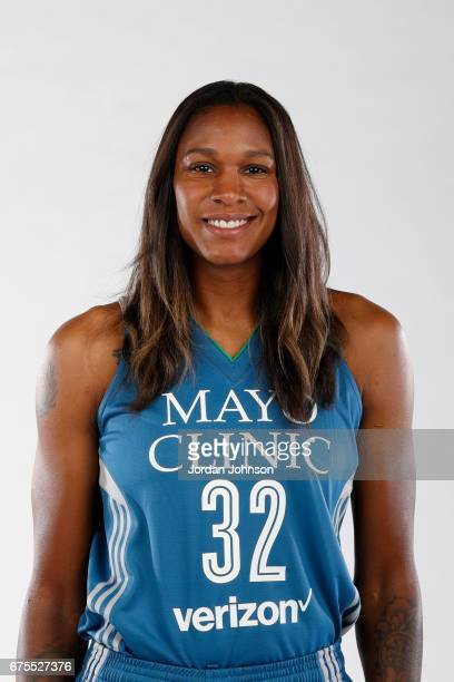 Rebekkah Brunson of the Minnesota Lynx poses for portraits during 2017 Media Day on May 1 2017 at the Minnesota Timberwolves and Lynx Courts at Mayo...