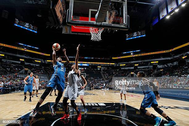 Rebekkah Brunson of the Minnesota Lynx shoots the ball against the San Antonio Stars on September 11 2016 at ATT Center in San Antonio Texas NOTE TO...