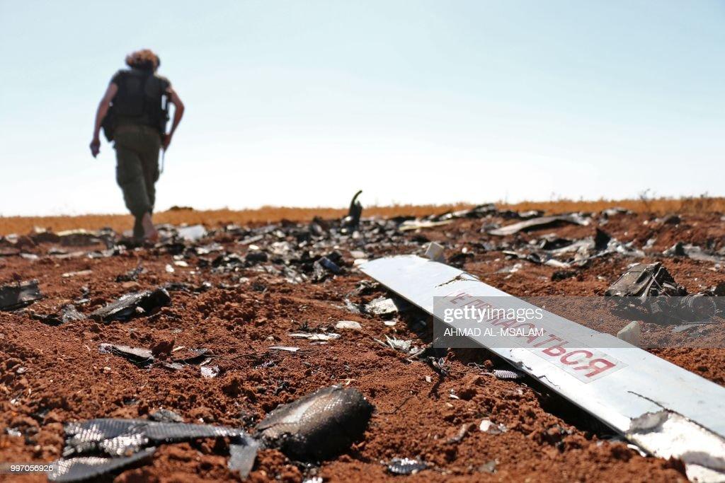 SYRIA-ISRAEL-CONFLICT-DRONE : Foto di attualità