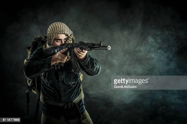 rebel - kalashnikov stock pictures, royalty-free photos & images