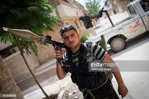 A rebel poses with an RPG with which he planned to destroy a tank on August 30 2012 in Aleppo Syria Government forces loyal to President Bashar...