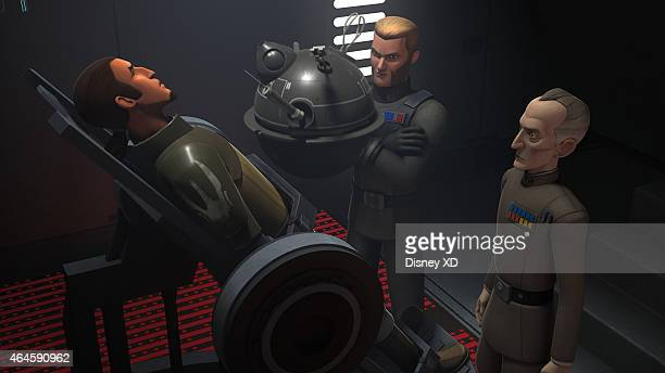 """Rebel Resolve"""" - Knowing their communications are compromised, the Imperials rely on a courier droid to transmit information from a ship in orbit...."""