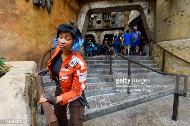 Rebel spy Vi Moradi, the Resistance spy who was sent to Batuu by General Organa, tries to hide from the First Order at Black Spire Outpost during the...