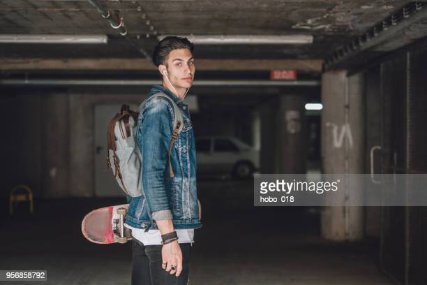 Rebel teenager skater boy