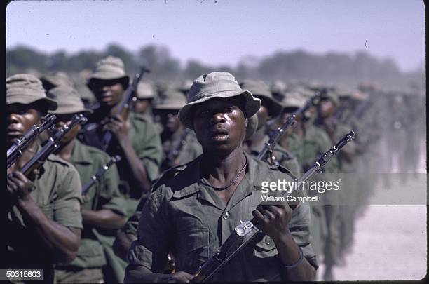 UNITA rebel troops assembling in area near UNITA headquarters