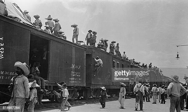 Rebel Troops on Train at Veracruz