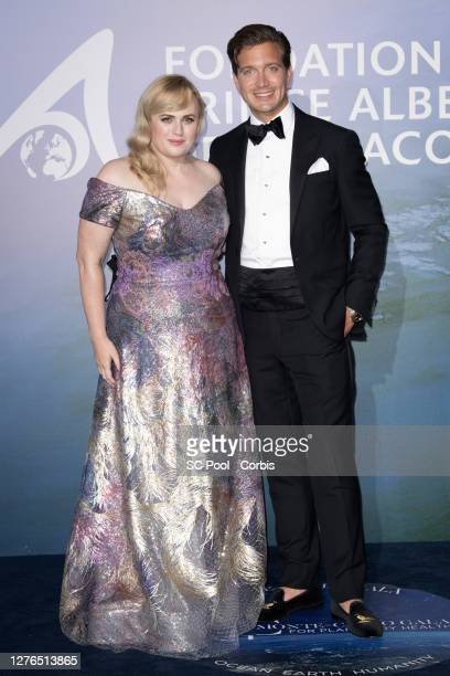 Rebel Wilson and Jacob Busch attend the MonteCarlo Gala For Planetary Health on September 24 2020 in MonteCarlo Monaco