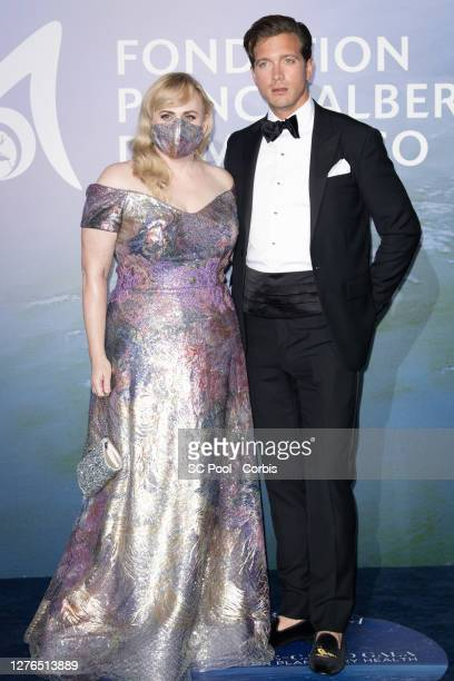 Rebel Wilson and Jacob Busch attend the Monte-Carlo Gala For Planetary Health on September 24, 2020 in Monte-Carlo, Monaco.