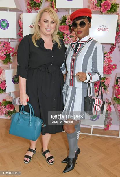 Rebel Wilson and Janelle Monae attend the evian Live Young suite at The Championships, Wimbledon 2019 on July 1, 2019 in Wimbledon, England.