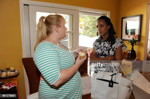 Rebel Wilson and Kerry Washington attend the annual Jen Klein Day of Indulgence Summer Party August 11 2013 in Los Angeles California