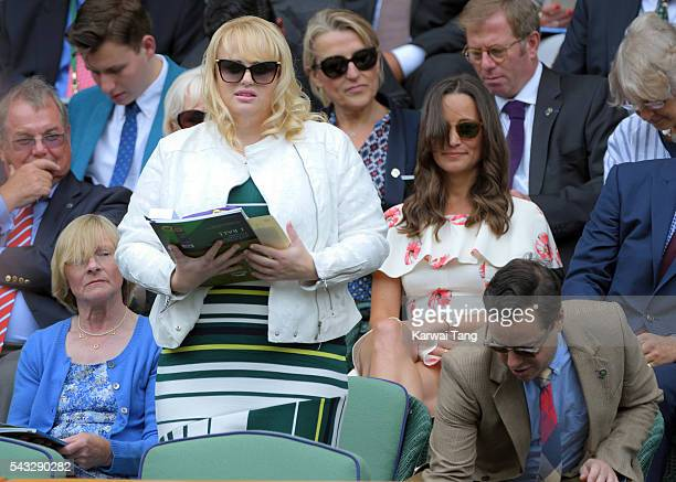 Rebel Wilson and Pippa Middleton attend day one of the Wimbledon Tennis Championships at Wimbledon on June 27 2016 in London England