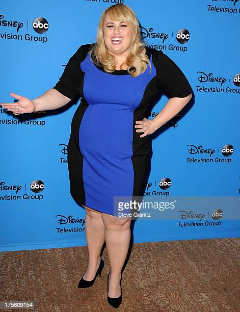Rebel Wilson arrives at the 2013 Television Critics Association's Summer Press Tour Disney/ABC Party at The Beverly Hilton Hotel on August 4 2013 in...