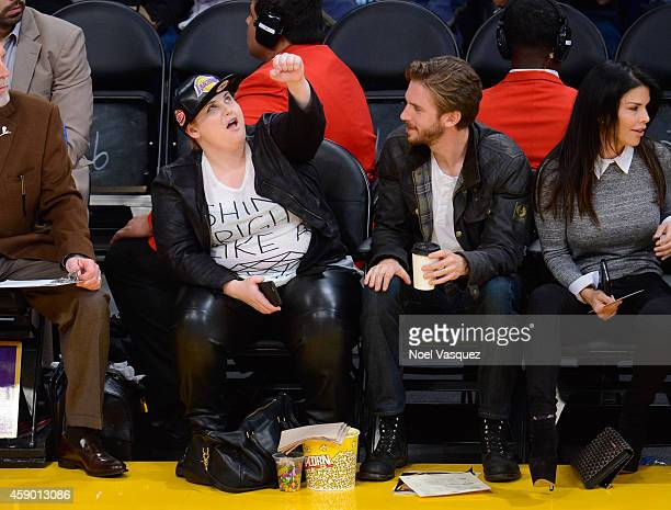 Rebel Wilson attends a basketball game between the San Antonio Spurs and the Los Angeles Lakers at Staples Center on November 14, 2014 in Los...