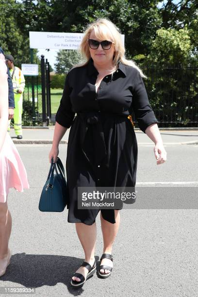 Rebel Wilson attends day one of the Wimbledon Tennis Championships at All England Lawn Tennis and Croquet Club on July 01, 2019 in London, England.