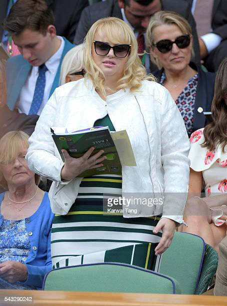 Rebel Wilson attends day one of the Wimbledon Tennis Championships at Wimbledon on June 27 2016 in London England
