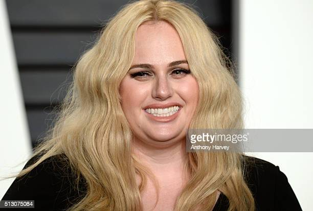 Rebel Wilson attends the 2016 Vanity Fair Oscar Party hosted By Graydon Carter at Wallis Annenberg Center for the Performing Arts on February 28 2016...
