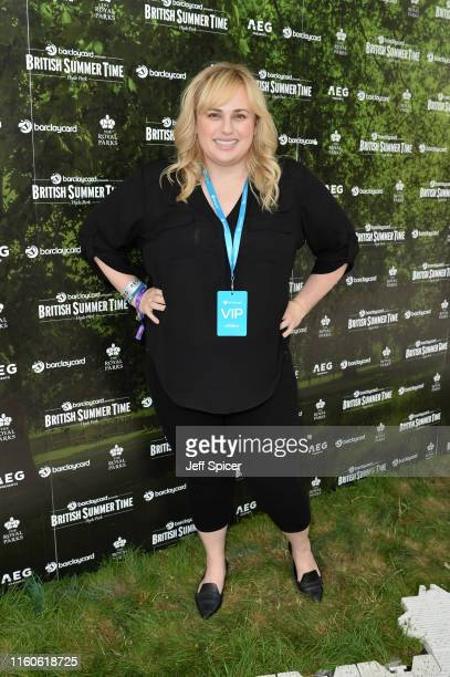 Rebel Wilson attends the Barclaycard Exclusive Area at Barclaycard Presents British Summer Time Hyde Park at Hyde Park on July 07 2019 in London...