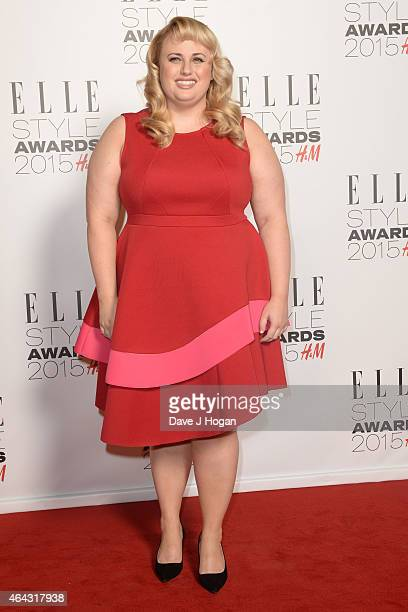 Rebel Wilson attends the Elle Style Awards 2015 at Sky Garden @ The Walkie Talkie Tower on February 24 2015 in London England
