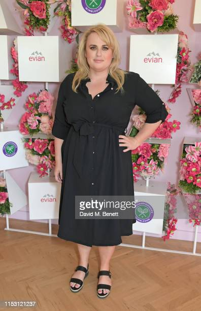 Rebel Wilson attends the evian Live Young suite at The Championships Wimbledon 2019 on July 1 2019 in Wimbledon England