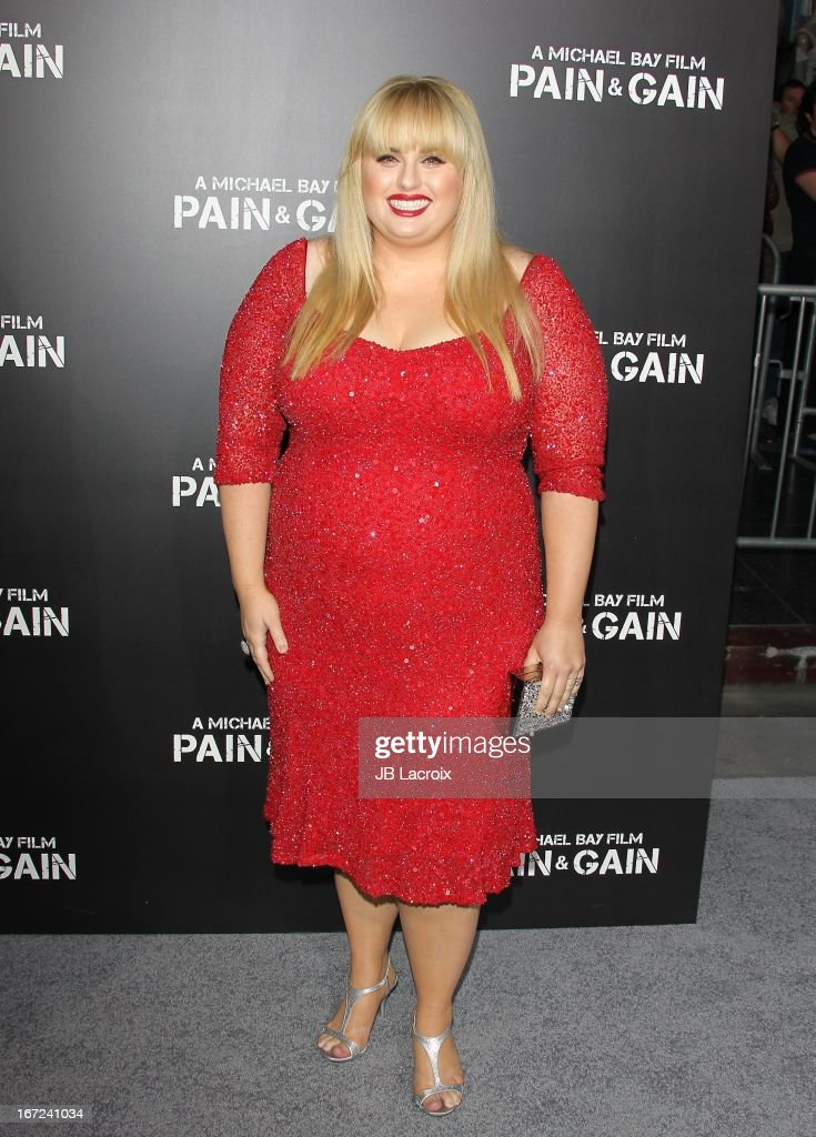 Rebel Wilson attends the 'Pain & Gain' premiere held at TCL Chinese Theatre on April 22, 2013 in Hollywood, California.