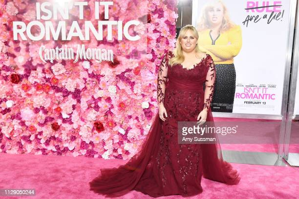 Rebel Wilson attends the premiere of Isn't It Romantic at The Theatre at Ace Hotel on February 11, 2019 in Los Angeles, California.