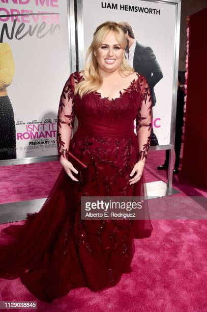 Rebel Wilson attends the premiere of Warner Bros Pictures' Isn't It Romantic at The Theatre at Ace Hotel on February 11 2019 in Los Angeles California
