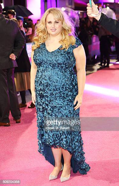 Rebel Wilson attends the UK Premiere of 'How To Be Single' at Vue West End on February 9 2016 in London England