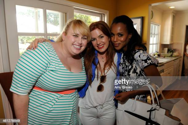 Rebel Wilson Isla Fisher and Kerry Washington attend the annual Jen Klein Day of Indulgence Summer Party August 11 2013 in Los Angeles California