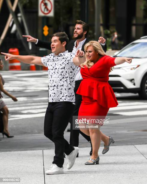 Rebel Wilson seen on location for 'IsnÕt It Romantic' in Midtown on July 15 2018 in New York City