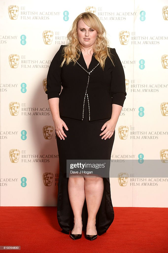 Rebel Wilson poses in the winners room at the EE British Academy Film Awards at The Royal Opera House on February 14, 2016 in London, England.