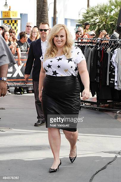Rebel Wilson visits 'Extra' at Universal Studios Hollywood on October 27 2015 in Universal City California