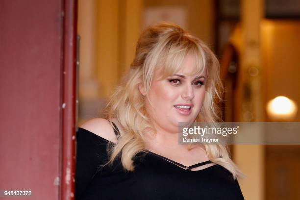 Rebel Wilson walks out of the Court of Appeal on April 19 2018 in Melbourne Australia Rebel Wilson successfully sued Women's Day magazine publisher...