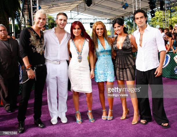 Rebelde arrives at the Bank United Center for the Premios Juventud Awards on July 19 2007 in Coral Gables Florida