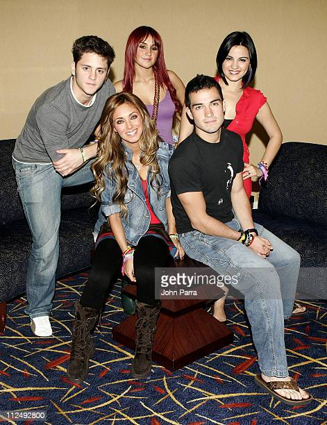 RBD Rebelde during Press Conference with RBD Rebelde in South Beach October 17 2006 in Miami Florida United States