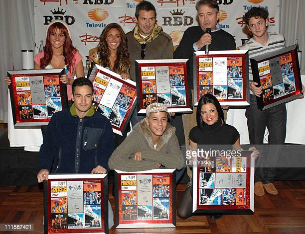RBD Rebelde during RBD Rebelde Press Conference in Madrid January 8 2007 at Palace Hotel in Madrid Madrid Spain