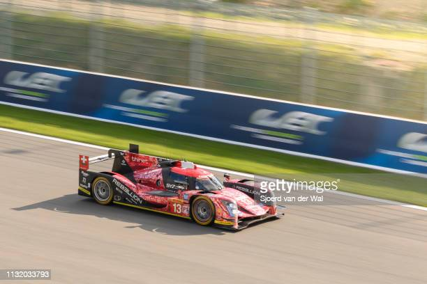 Rebellion Racing Rebellion R-One AER LMP2 race car driven by M. TUSCHER / D. KRAIHAMER / A. IMPERATORI on the straight during the 6 Hours of...