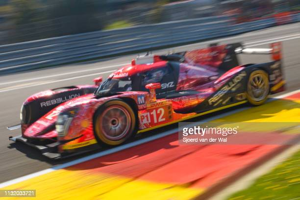 Rebellion Racing Rebellion R-One AER LMP2 race car driven by N. PROST / N. PIQUET JR / N. HEIDFELD in Eau Rouge on track during the 6 Hours of...