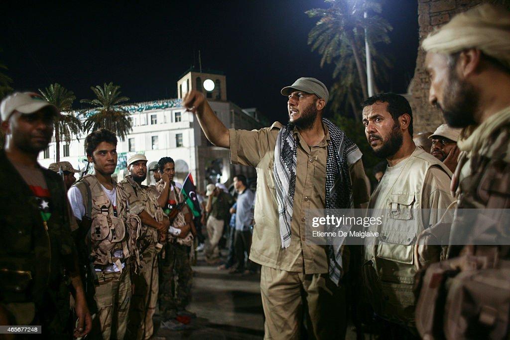 Rebels Military Commander  Abdel Hakim Belhaj : News Photo
