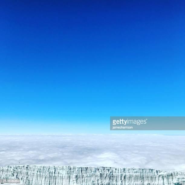 Rebmann glacier on top of Mount Kilimanjaro, Tanzania