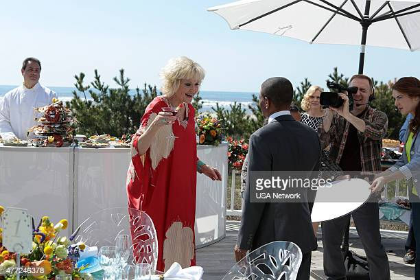 PAINS 'Rebound' Episode 701 Pictured Christine Ebersole as Mrs Newberg Muggsy Bogues as Himself Kelly Miller as Cameraman
