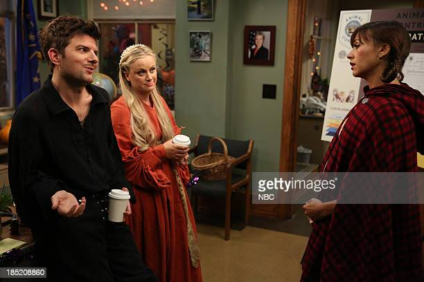 RECREATION Recall Vote Episode 607 Pictured Adam Scott as Ben Wyatt Amy Poehler as Leslie Knope Rashida Jones as Ann Perkins