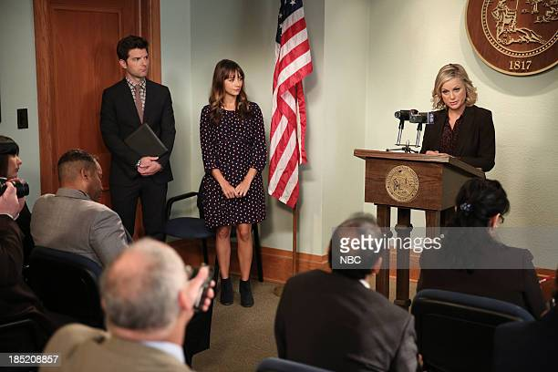 RECREATION Recall Vote Episode 607 Pictured Adam Scott as Ben Wyatt Rashida Jones as Ann Perkins Amy Poehler as Leslie Knope