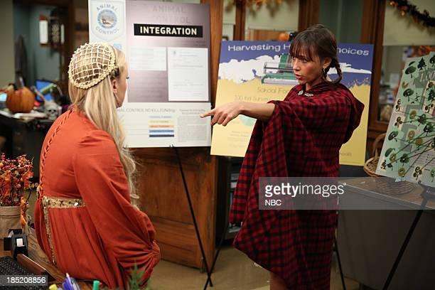 RECREATION Recall Vote Episode 607 Pictured Amy Poehler as Leslie Knope Rashida Jones as Ann Perkins