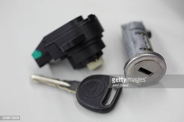 A recalled Chevy Cobalt ignition switch is seen at Raymond Chevrolet in Antioch Illinois July 17 2014